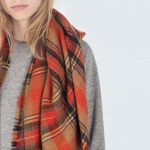 💛 euc | Zara | plaid blanket scarf